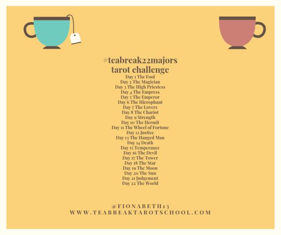teabreak 22 tarot challenge daily prompts